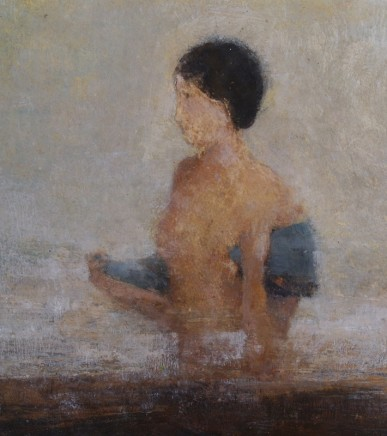 David Brayne RWS Deep Pool Pigment and watercolour on paper 36 x 32 cm
