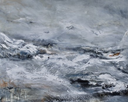 Debra Royston Stormy Water Mixed media on canvas 120 x 150 cm