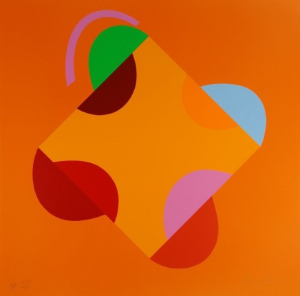 Sir Terry Frost RA, Development of a Square within a Square (Orange), 1999