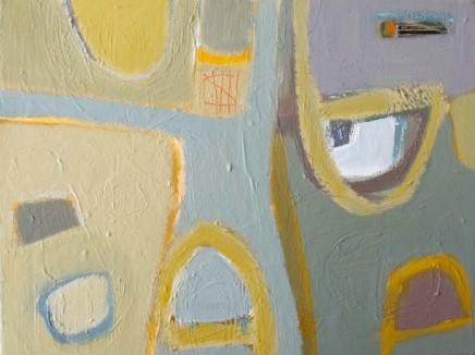 Stephanie Stow Gate Acrylic on canvas 40 x 30 cm