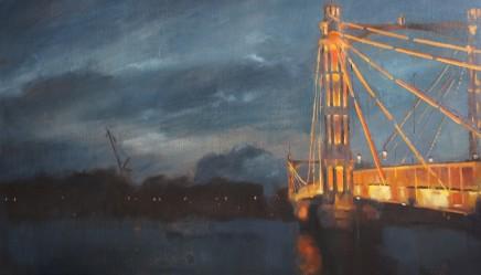 Christopher Gray Nocturne Albert Bridge Oil on linen 51 x 86 cm