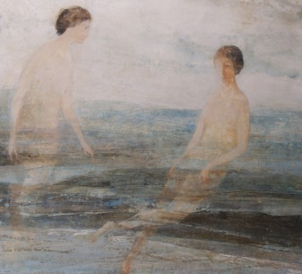 David Brayne RWS Swimmers Pigment and watercolour on paper 90 x 100 cm