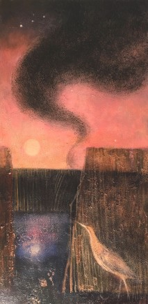 Catherine Hyde The Booming Moon, 2018 Acrylic on canvas 80 x 40 cm