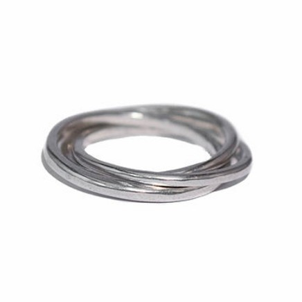 Daya Daya Designs 925 Eco Silver Casted Russian Wedding Ring Upcycled Silver Hand Crafted