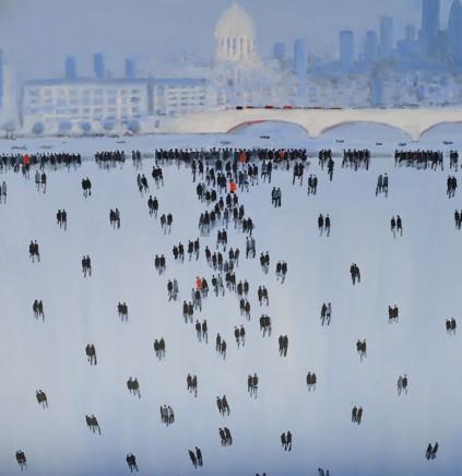 David Wheeler Blackfriars Bridge Oil on canvas 100 x 100 cm