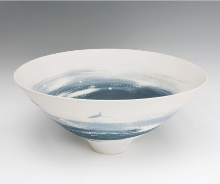 Ali Tomlin Large Two Blues Bowl Porcelain