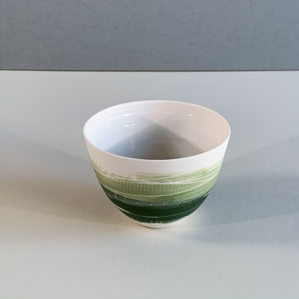 Ali Tomlin AT9 - Small Cup/Bowl, Two Greens Porcelain 6 x 9 cm