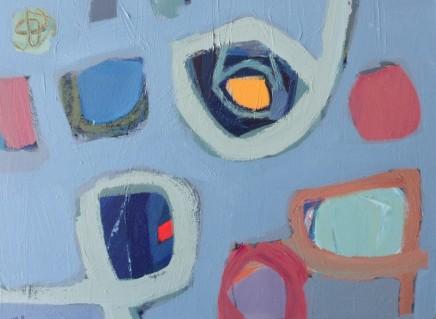 Stephanie Stow Evening Blues Acrylic on canvas 40 x 30 cm