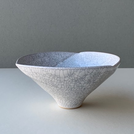 Keith Menear Crackled Glaze Bowl small Stoneware 13 x 9 cm 1111-3