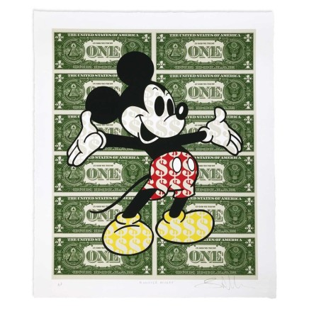 Ben Allen Monster Mickey Giclee print on 330gsm textured fine art paper with hand torn edges. 100 x 120 cm Limited edition of 15