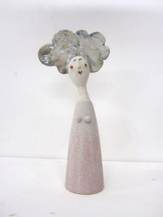 Jane Muir  Lady, Light Pink Dress  Ceramic  25 x 11 x 4 cm