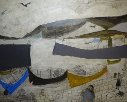 Nicholas Turner RWA Quayside Oil on linen 61 x 76 cm