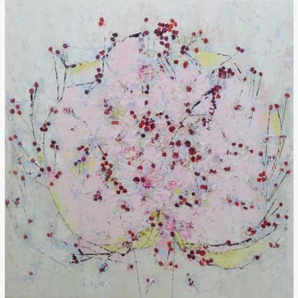 Lorraine Wake Berry Tree Oil on canvas 90 x 90 cm
