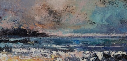 Nicola Rose The Gentle Sea Oil and sand on canvas 30 x 60 cm