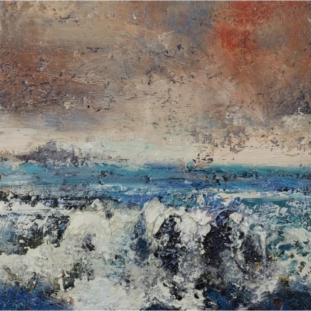 Nicola Rose Waves of Staffa Oil and sand on canvas 40 x 40 cm
