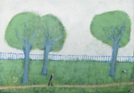 David Fawcett, Weary Commuter Walking Home Through The Park