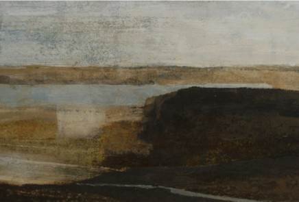 David Brayne RWS Coast Path Pigment and watercolour on paper 25 x 38 cm