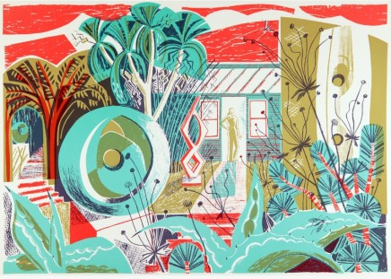 Clare Curtis Barbara's Garden Lithograph - 4 colours Published 2014, edition of 75 Framed: £420 49 x 67 cm