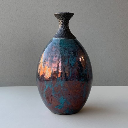 Keith Menear Raku Bottle Luster Glaze Ceramic 18 x 10 cm 1810-1