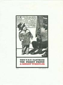 Sir Peter Blake RA Tiny Tim T.N.T. , 1973 Wood engraving 21 x 15 cm Framed Edition of 100