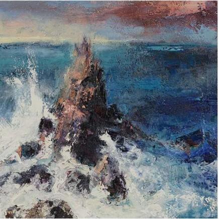 Nicola Rose Warrior Oil and sand on canvas 60 x 60 cm