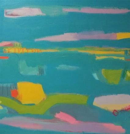 Stephanie Stow Spring and the Blue Beyond Acrylic on canvas 60 x 60 cm