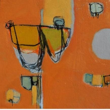 Stephanie Stow Groovy and Good Acrylic on canvas 40 x 40 cm