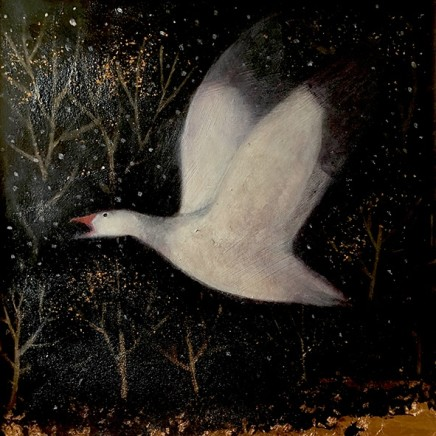 Catherine Hyde The White Flame, 2018 Acrylic on canvas 50 x 50 cm
