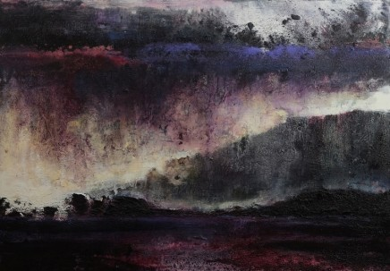 Nicola Rose Southern Cliffs Isle of Mull Oil and sand on canvas 70 x 100 cm