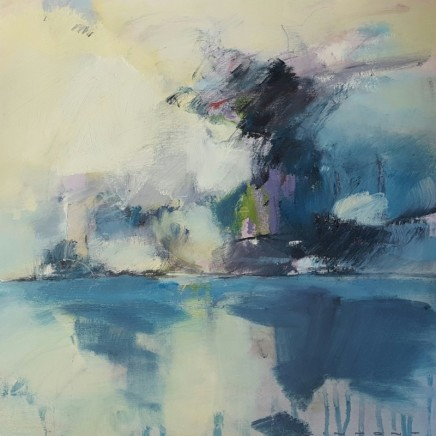 Andrew Kinmont Storm at Sea Oil on canvas 40 x 40 cm