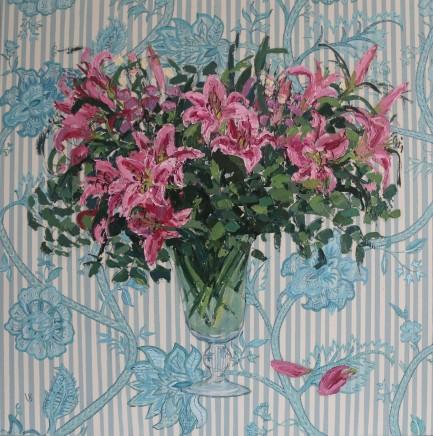 Venetia Syms Beaulieu Ciel Lilies , 2020 Oil on canvas 90 x 90 ccm