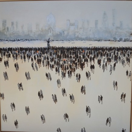 David Wheeler The City Oil on canvas 60 x 60 cm