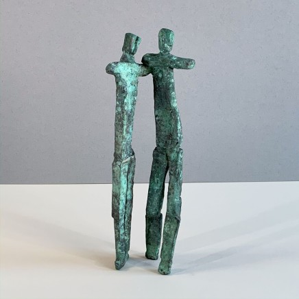 Neil Wood The Couple Unique Bronze 2019 30 x 10 cm