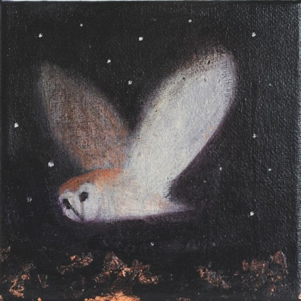 Catherine Hyde The Soft Wings of Night Acrylic on canvas 6 x 6 inch