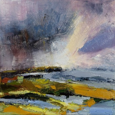 Nicola Rose Advancing Storm Oil on canvas 50 x 50 cm