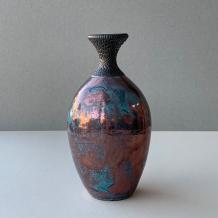 Keith Menear Raku Bottle Luster Glaze Ceramic 15 x 7 cm 1810-4