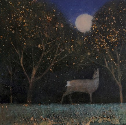 Catherine Hyde The Silver Apples Of The Moon, 2018 Acrylic on canvas 30.5 x 30.5 cm