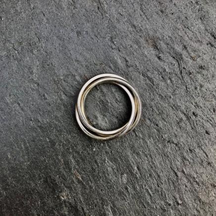 Daya Daya Designs Eco Silver Russian Wedding Ring Eco Silver, 2.3 x 1.5 mm Hand Crafted