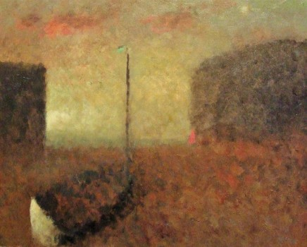Nicholas Turner RWA Pink Clouds Oil on board 24 x 30 cm