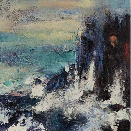 Nicola Rose Shear Oil and sand on canvas 60 x 60 cm