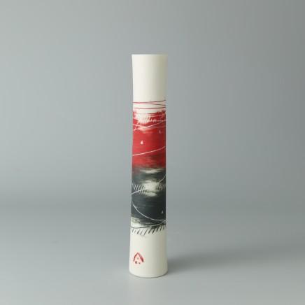 Ali Tomlin AT20: Single Stem - Red and Black Porcelain H: 15 cm