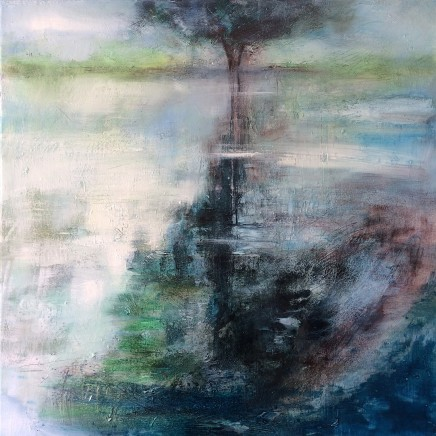 Nicola Rose The Lone Tree Oil on canvas 76 x 76 cm