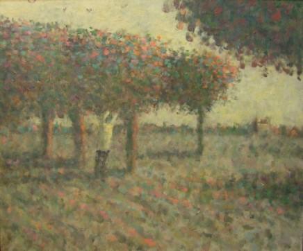 Nicholas Turner RWA, Orchard Figure, Evening