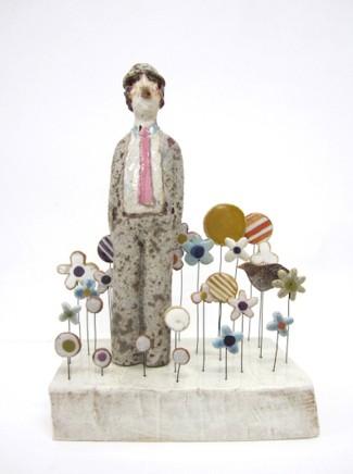 Jane Muir Business Man, Garden Ceramic 26 x 18 x 10 cm