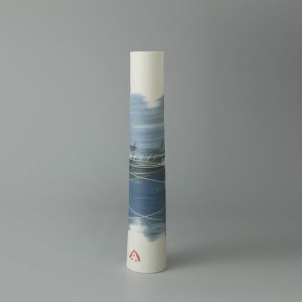 Ali Tomlin AT21: Single Stem - Blue Scenes Porcelain H: 15 cm