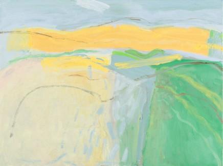 Sally McLaren Yellow Fields Oil on canvas 46 x 60 cm