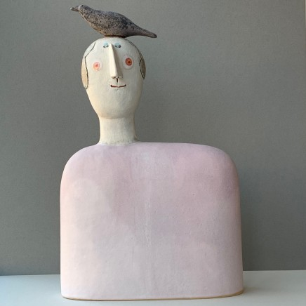 Jane Muir Bird Shoulder, Pink Ceramic 48 x 30 x 10 cm
