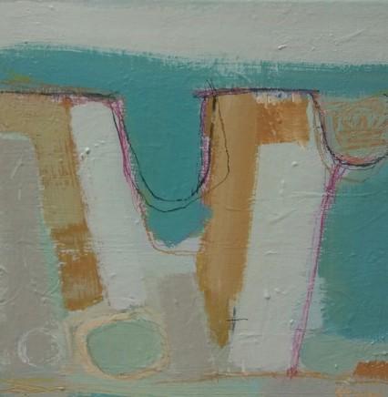 Stephanie Stow St Mawgan Cove Acrylic on canvas 30 x 30 cm