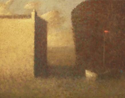 Nicholas Turner RWA Yellow House Oil on board 35 x 45 cm