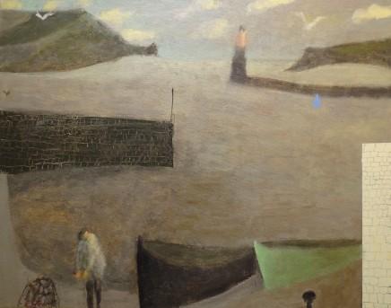 Nicholas Turner RWA  Fisherman and Creel  Oil on linen  40 x 50 cm